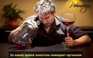 Через сколько выходит алкоголь из организма