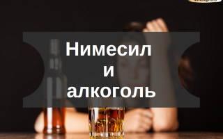 Нимесил и алкоголь